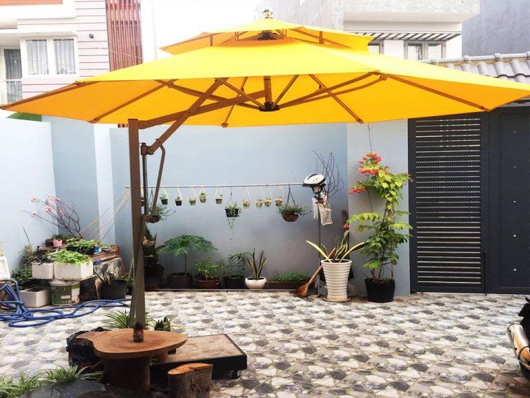 Dù Che Nắng Ngoài Trời, Quán Cafe, Che Mưa, Dù Lệch Tâm, Dù Đứng Tâm Giá Rẻ Tại TP Hồ Chí Minh
