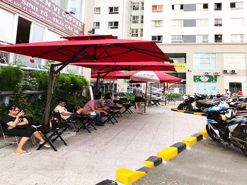 Ô Dù Che Nắng Ngoài Trời Quán Cafe, Thương Hiệu Dù Hưng Gia Phát