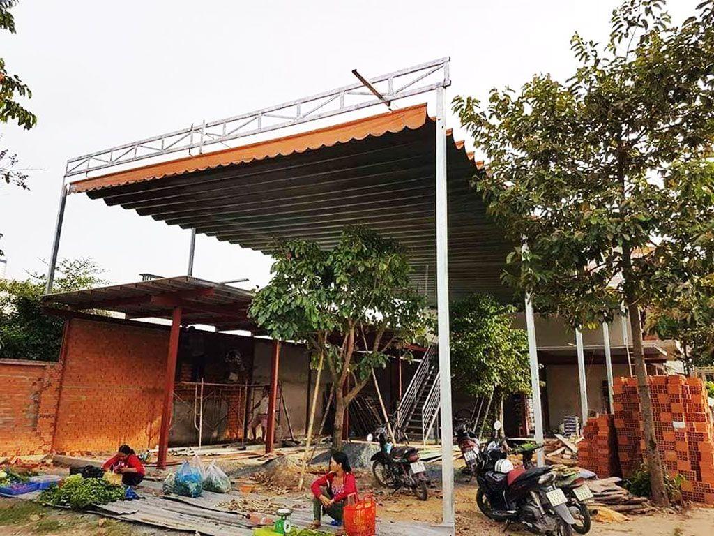 Lắp Đặt Mái Xếp Di Động,Bạt Che nắng Quán Cafe ( Cà Phê )